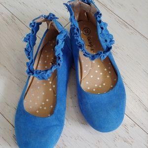 Cat & Jack blue ankle strap shoes
